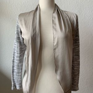 Silver Anthropologie Cardigan Size XS